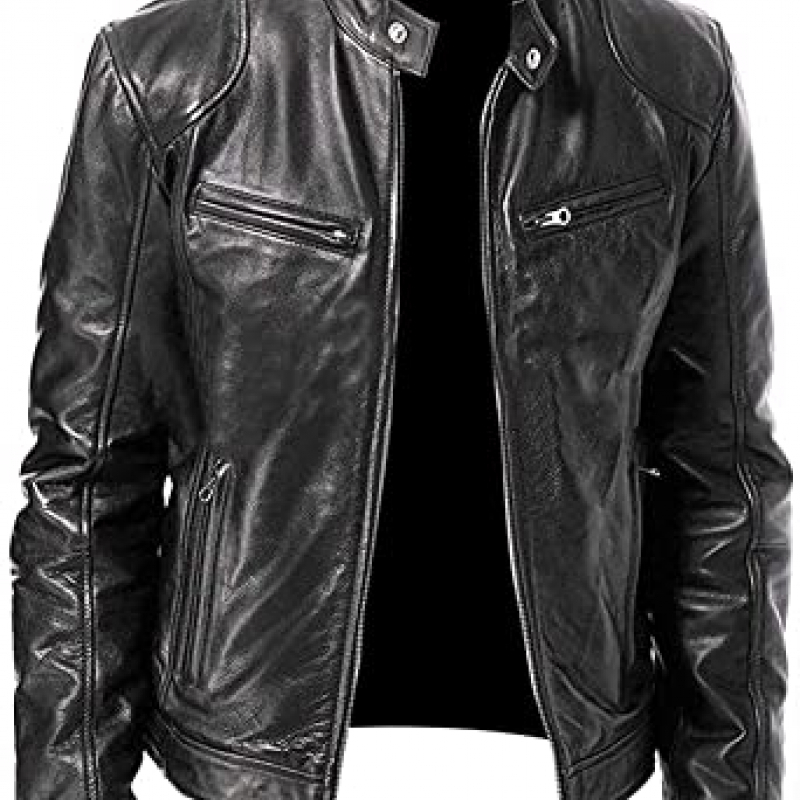 chaqueta cuero negra