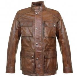 Lavado chaqueta belstaff, Barbour de piel lisa y cuero